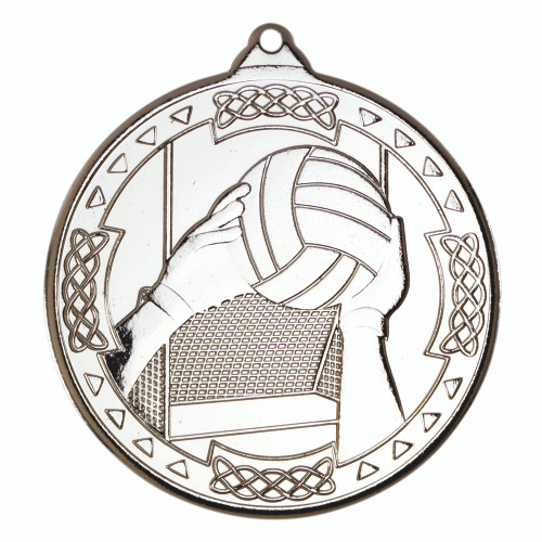 50mm Silver Gaelic Football Medal Award