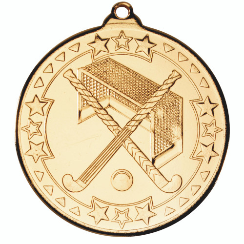 50mm Gold Hockey Medal Award