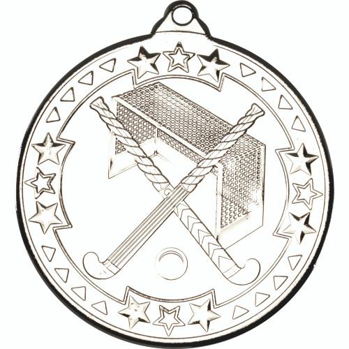 50mm Silver Hockey Medal Award