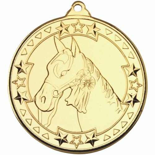 50mm Gold Horse / Equestrian Medal Award