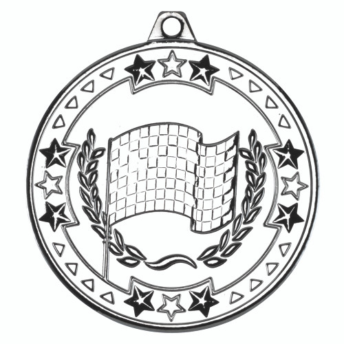 50mm Silver Motorsport Medal Award