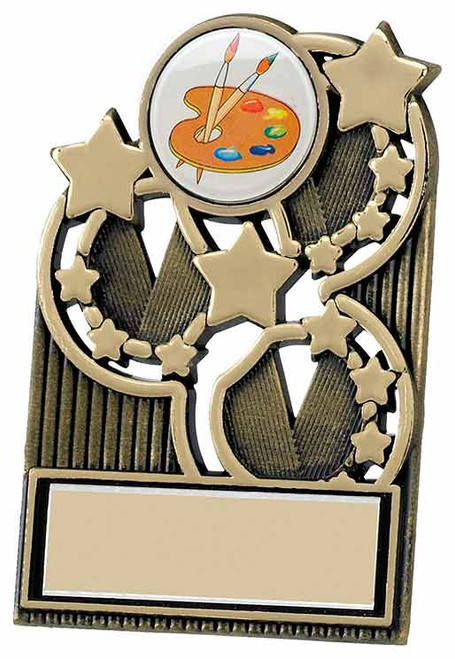 Antique Gold Star Plaque with FREE engraving at 1st Place 4 Trophies