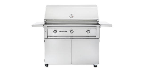 Sedona L400 Freestanding Grill with 1 ProSear1 Burner, 1 SS Tube Burner - Ships Assembled